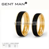 Pure gold 925 Silver Black Carbon Fiber Inlay jewelry rings Stainless steel Masonic Rings