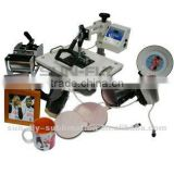 Heat press machine for sublimation mugs Plate cap T-shirt 8 in 1 combo sublimation heat press machine