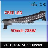 NEW PRODUCTS cree led high lumen the latest 288w curved 50inch cree led light bar for suv/atv