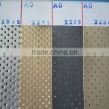 for home furnishing punched air hole furrrier plastic with mesh composite fabric