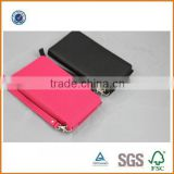 new fashion genuine leather wallet women China factory,PU zipper fashion leather wallet ladies,multicolor leather wallet