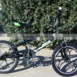 2013 fashionable one pc wheel steel adult bmx bicycle hot sale bikes 20inch wheel black color