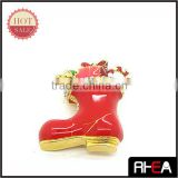 2014 Fashion Alloy Christmas Boots Brooch Jewelry