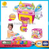 Lovely funiture toy set Plastic play house for kids washing machine with light and music