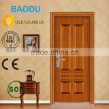 Make In China Good Quality New Design Interior steel Wood Door Wrought Iron Entry Door finished interior wood doors