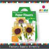 Make Your Own Crepe Paper Flowers-Sunflower, Paper Folding Flowers, Cheap Paper Flower