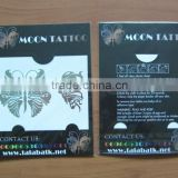 tatoos package copated paper off-set printed backer card