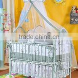 Metal baby bed,Palace mosquito net,European style cradle,