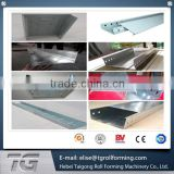Auto China Cable tray plank roll forming machine, China Cable tray roll making machine