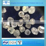 wholesale gem quality uncut rough lab grown diamond CVD HPHT large single crystal diamond