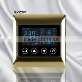 IVOR 220V Central Air-Conditioner Thermostat Digital AC Thermostat Switch SK-AC2000L8 Bright Gold Metal Frame