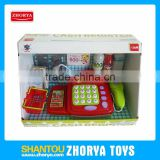 kids toys pretend play set chidlren mini supermarket cash register cheap plastic kids play cash register