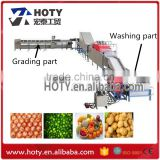 industrial fruit and vegetable washing equipment/cleaner machine,bubble washing machine and brush washing