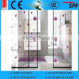 3-19mm Decorative frosted Partitions Glass for kitchen