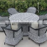 F- Foshan outdoor modern garden furniture rattan dining table sets (CF741+CF1274T+CF1244C)