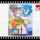 wholesale plastic LED light transparent bubble gun with 1 bottle bubble water