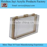 Jayi acrylic Fatory Acrylic clear lucite beautiful young women ladies shoulder handbag sale