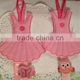 Hot sell Felt Ballerina tutu hair clip hanger applique made in China