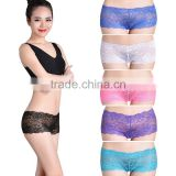 Sexy Hot Selling Underwear Transparent Lace Women Boyshorts Factory Lingerie