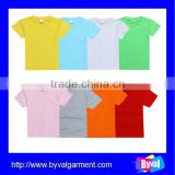 kids clothes summer in 2015 cotton/polyester blank plain simple tshirt for kids