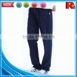 Alibaba china 100% cotton cheap cool mens jogger sweat pants men cotton trousers with zips