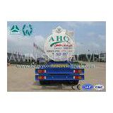6mm Steel Sheet Q235 Anti Caustic Two Axle Trailer With Air Braking