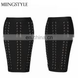 Custom logo new fashion bodycon women club bandage sexy girl mini skirt for wholesale