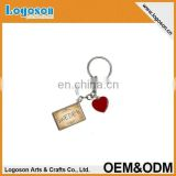 2015 popular items custom design i heart love swedish keychain