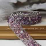 Fashion Design Jewelry Sticker Ribbon Iron on Tape Rhinestone Transfer