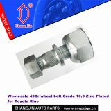 Wholesale 40Cr wheel bolt Grade 10.9 Zinc Plated for Toyota Rino