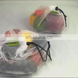 Reusable Mesh Produce Bags Eco-Friendly Washable See Through with Colorful Tare Weight Tags