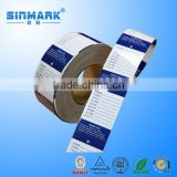 SINMARK water proof barcode label
