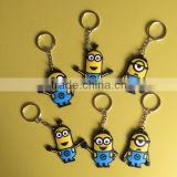 2015 custom 2D soft PVC keychain, cheap bulk 3D rubber key rings, plastic keychain