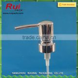 24mm 28mm metal lotion pump , silver color stainless steel cream dispensers                                                                                                         Supplier's Choice