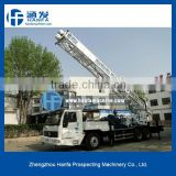 HFT-350B water well drilling equipment on truck