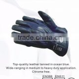RS SAFETY Chromed leather safety driving gloves in full grain cow Leather working glove