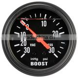 65mm Black Face LiquidFilled Mechanical Boost Gauge -30~30PSI
