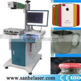 Factory direct 2014 new model 3HE-30w fiber laser engraving machine for cook and jewelry and mobile shell from eastern