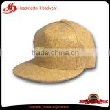 Sample custom blank 6 panel pu hip hop leather snapback cap strap back hat
