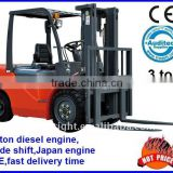 3ton diesel forklift truck,Japan ISUZE engine,double side shifter,pneumatic tire,CE prove.