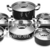 12Pcs Geman Technologic High Temperature Painting Stainless Steel Cooking Pot for Induction
