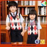 2016 Factory price kids school uniforms for korean bulk school uniforms wholesale International primary school uniform(ulik-014)