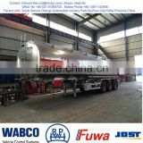 aluminum fuel tank trailer 4 cbm, fuel tanker dimension