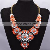 Fashion Charm Jewelry Pendant Chain Crystal Choker Chunky Statement bib Necklace NK024