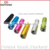 L361 colors portable metal cylinder external battery pack 2600mah portable micro usb charger power bank
