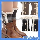 HOGIFT High Quality Boot Cuffs Leg Warmers,Cable Knit Boot Cuffs,Three buttons Boot Toppers