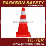 Taiwan High Quality 3M Reflective Tape PVC Highway Cone Road Traffic Control 70cm Height TC-70R