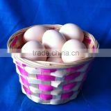 Bamboo baske for egg display, egg storage, egg tray basket
