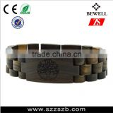 2016 China Wholesale custom cheap wood stuff natural wooden eco-friendly non-toxic wood bracelet with stainless steel buckle