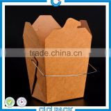 China factory wholesale kraft paper cardboard take out kraft paper lunch boxes for noodle , salad , rice